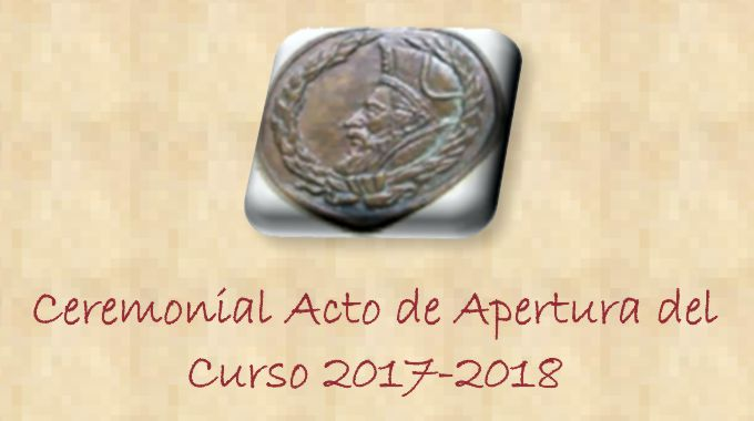 Acto Académico APERTURA DEL CURSO 2017-2018