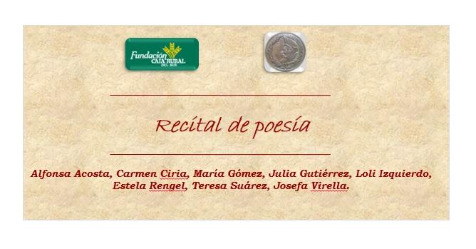 ESPACIOS LITERARIOS ONUBENSES: RECITAL DE POESÍA